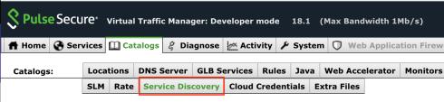 Service Discovery Menu